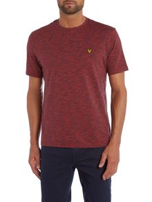 Lyle and Scott Space Dye Pattern Crew Neck T-Shirt