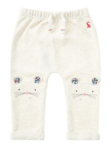 Girls Mouse Face Knees Jersey Joggers
