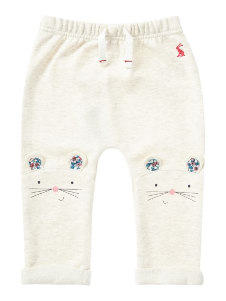 Joules Girls Mouse Face Knees Jersey Joggers