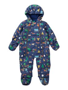 Boys Farm Print Showerproof Snowsuit