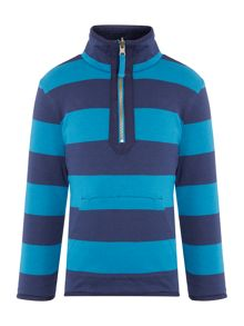 Boys Reversible Funnel Neck Fleeced Sweatshirt