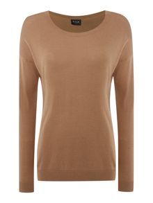 Vila Long Sleeved Round Neck Knit Top