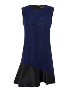 Sportmax Code Lace overlay frill dress
