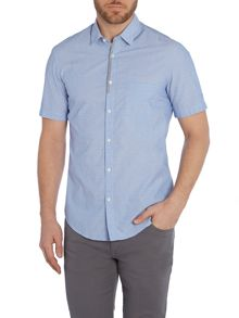 Biasino regular fit short sleeve dobby shirt