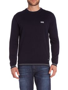 Rime Stripe hem crew neck jumper