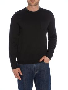 Hugo Boss Plain Crew Neck Pull Over Jumpers