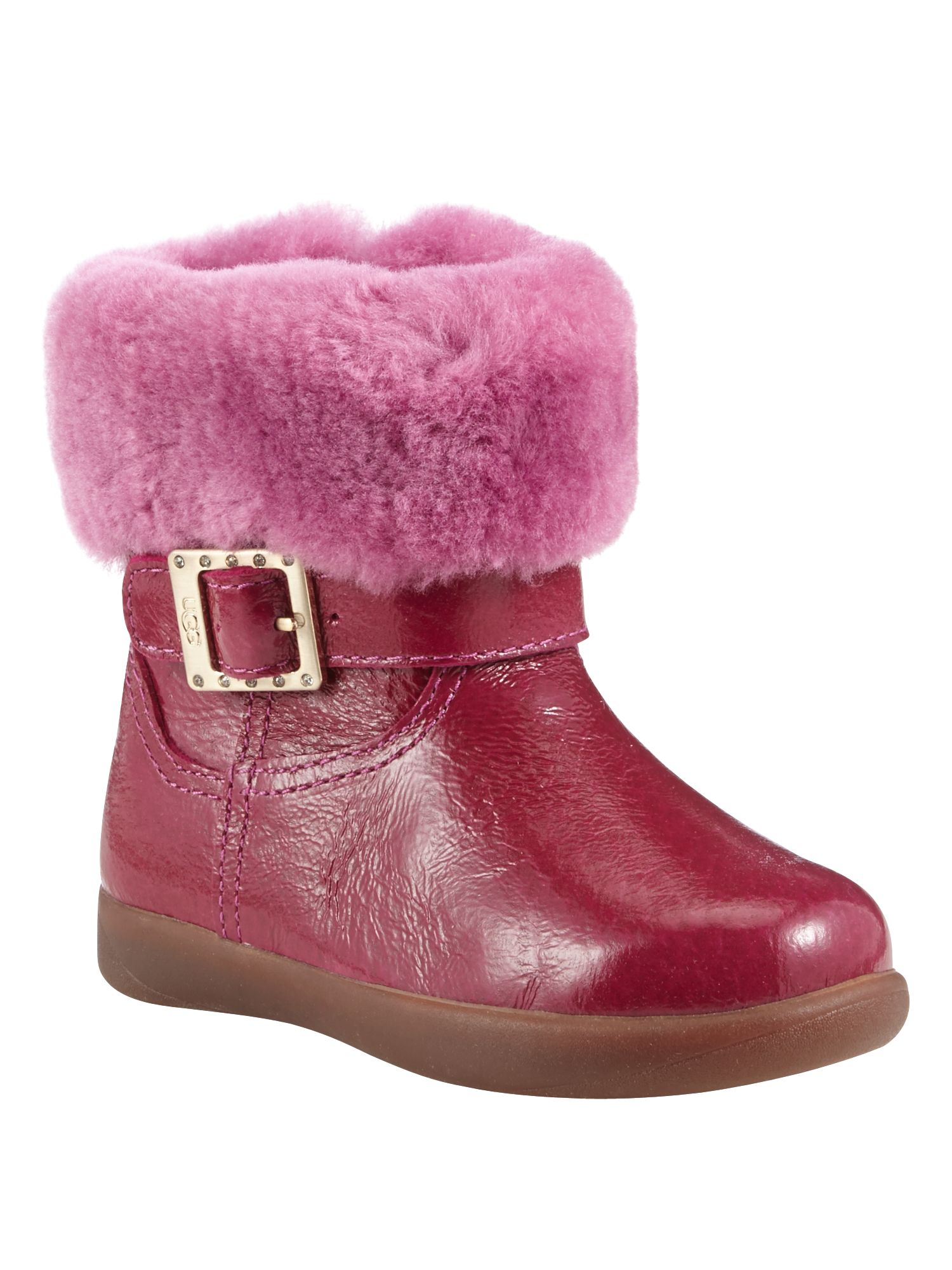 UGG Girls boots with Diamante Buckle Pink