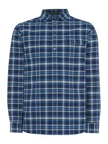 Stowe Checked Long Sleeve Pullover Shirt