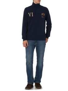 Kentville Funnel Neck Long Sleeve Rugby Top