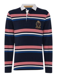 Howick Duxbury Striped Long Sleeve Rugby Shirt
