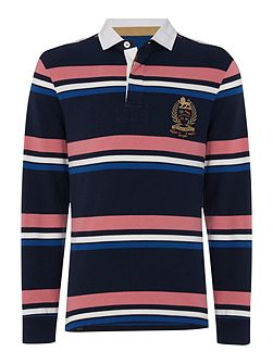 Men's Howick Duxbury Striped Long Sleeve Rugby Shirt