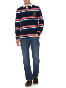 Duxbury Striped Long Sleeve Rugby Shirt