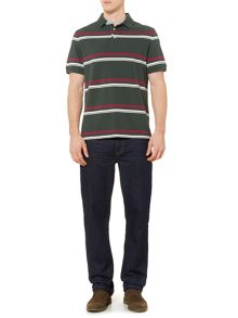 Steuben Striped Short Sleeve Polo Top