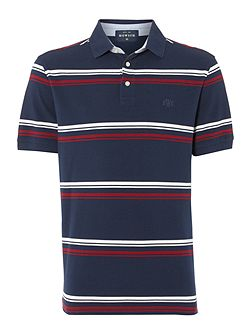 Men's Howick Steuben Striped Short Sleeve Polo Top
