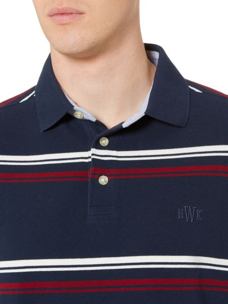 Howick Steuben Striped Short Sleeve Polo Top