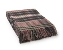 Lexington Classic Checked Wool Throw 130x170 Beige Multi