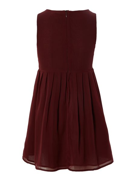 French Connection Girls Embellished Panel Dress With Pleats