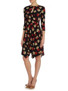 Lauren Ralph Lauren Aiakos 3/4 sleeve wrap dress