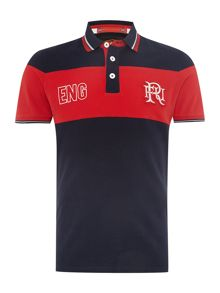 Front Up Rugby Sella Stripe England Polo Shirt