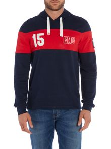 Front Up Rugby Mcbride Stripe England Hooded Jumper