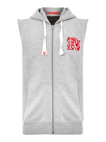 Logon Sleeveless Hooded Jumper