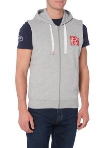 Front Up Rugby Logon Sleeveless Hooded Jumper