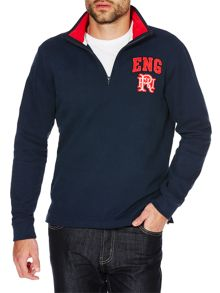 Front Up Rugby Williams England Half Zip Jumper