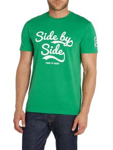 Front Up Rugby Johnson Side By Side Script T-Shirt