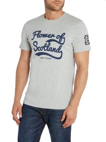 Front Up Rugby Johnson Flower Of Scotland Script T-Shirt