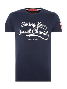 Front Up Rugby Johnson Swing Low Sweet Chariot Script T-Shirt