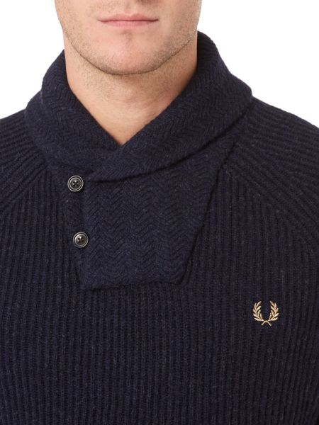 Fred Perry Fishermans Shawl Collar Knit