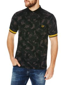 Camouflage Pattern Pique Polo Shirt