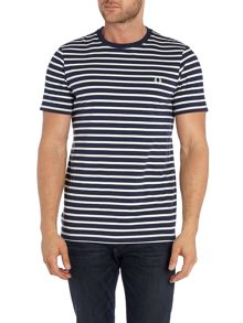 Breton Stripe Crew Neck T-Shirt