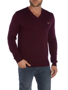 Classic V Neck Pull Over Sweater
