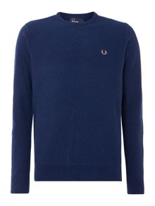 Fred Perry Textured Crew Neck Pull Over Sweat