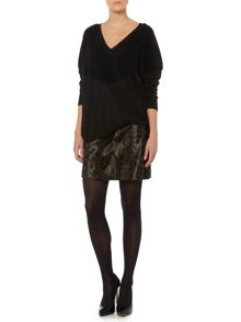 Sportmax Code Leopard print smooth faux fur skirt