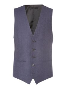 Kenneth Cole Porter Denim Texture Suit Waistcoat