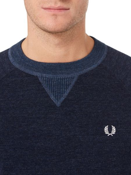 Fred Perry Budding Yarm Tipped Crew Neck Sweat