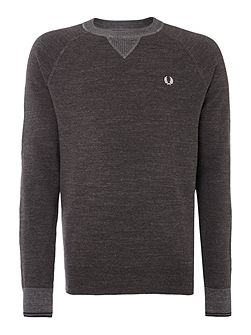 Men's Fred Perry Budding Yarm Tipped Crew Neck
