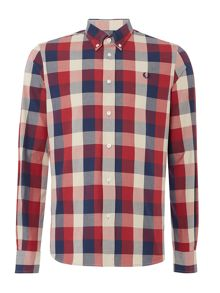 Winter Twill Gingham Long Sleeve Shirt