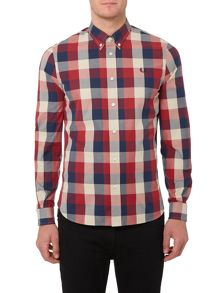 Fred Perry Winter Twill Gingham Long Sleeve Shirt