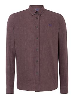 Men's Fred Perry Micro Marl Gingham Long Sleeve