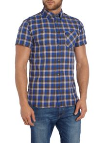 Check Classic Fit Short Sleeve Button Down Shirt