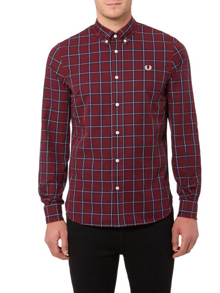 Fred Perry Compact Winter Check Long Sleeve Shirt