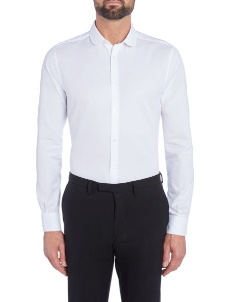 Kenneth Cole Destin Textured Shirt With Penny Collar