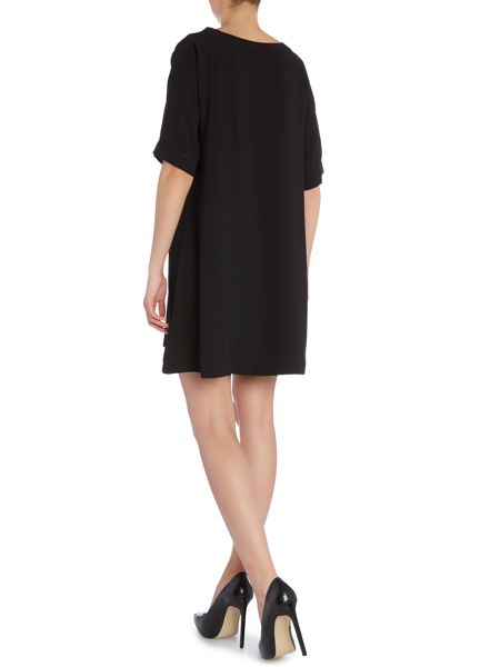 Calvin Klein Rana short sleeve mesh front panel dress
