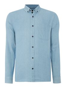 Only & Sons Classic Fit Long Sleeve Cutaway Collar Shirt