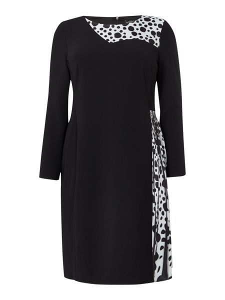 Marina Rinaldi Printed long sleeve dress