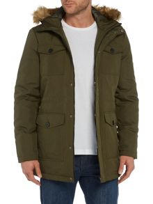 Only & Sons Casual Full Zip Parka Coat