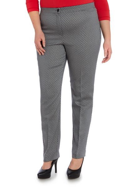 Marina Rinaldi Sparkle print tailored trouser